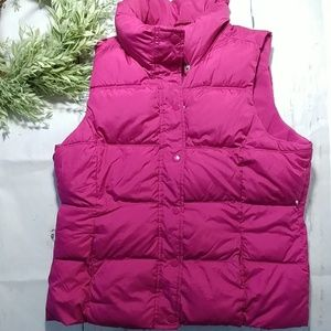 Old Navy Fushia puffer vest